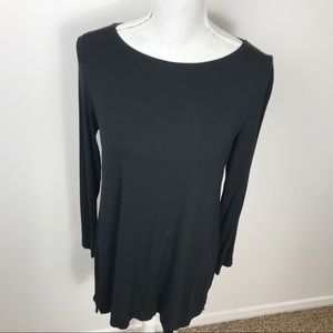 Eileen Fisher Black HIgh Low Knit Tunic S